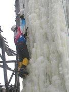 Rock Climbing Photo: Steep thin ice