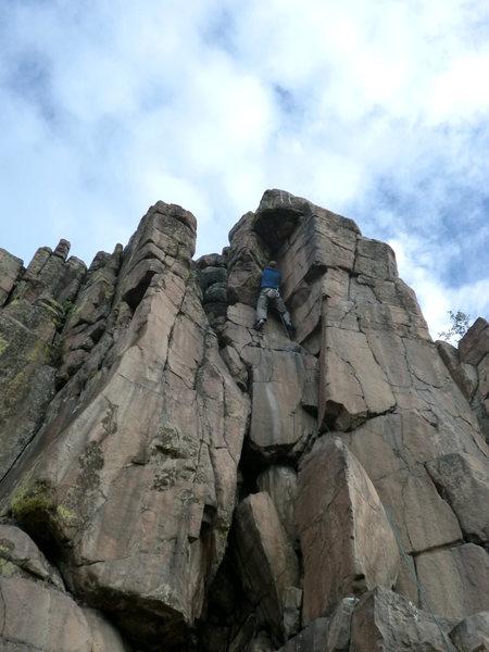 "Rock Climbing Photo: Mike Keegan nearing the finish of ""Child Abus..."