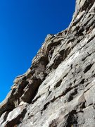 Rock Climbing Photo: Dave used wireds, small hexes, and a #0.75 Camalot...