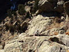 Rock Climbing Photo: George Newman enjoying the hot January temperature...