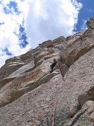Rock Climbing Photo: Pete on P.4.