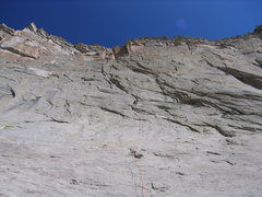 Rock Climbing Photo: Andy on P.1. Unknown climber on Airhead dihedral f...