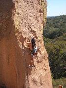 Rock Climbing Photo: Ale TR'ing Amazon Boulder!