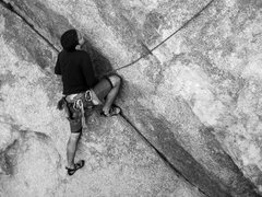 Rock Climbing Photo: Lluis follows ZZZZ