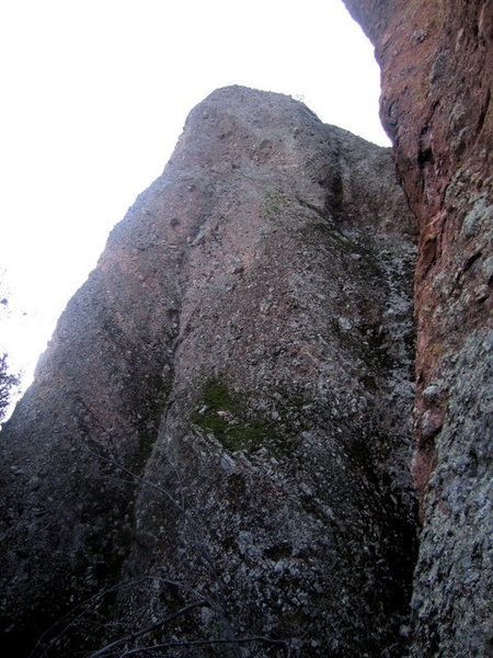 Rock Climbing Photo: The Fast Lane starts in the mossy area in the bott...