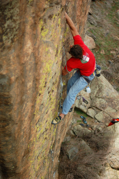 Rock Climbing Photo: Initial attempt, Spring '07. Photo by Andrew Tower...