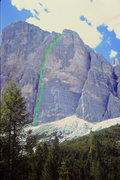 Rock Climbing Photo: South Face Buttress 2 Pillar Rib Route