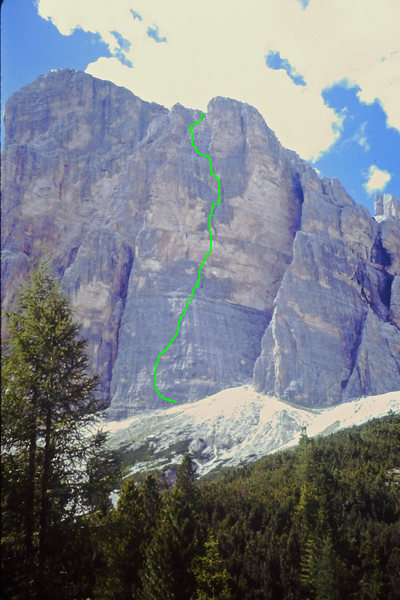 Rock Climbing Photo: South Face of buttress 2 Pilastro Route