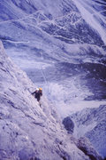 Rock Climbing Photo: High on the Pilastro route on the final moves befo...