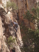 Rock Climbing Photo: Wes gettin' busy on Piñon Slalom.