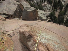Rock Climbing Photo: A  tip if your partner is a little squimish about ...