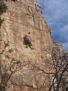 Rock Climbing Photo: Craig leading Puking Yuppies.