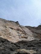 Rock Climbing Photo: Max near the top of 2150.