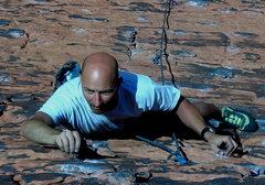 Rock Climbing Photo: Mark nearing the top of Brief Encounter.