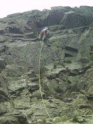 Rock Climbing Photo: Me moving up pitch 3.