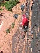Rock Climbing Photo: Chris H using the hands free head jamb Panty Raid,...