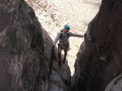 Rock Climbing Photo: climbing into the alcove at the top of P5