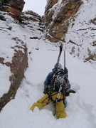 Rock Climbing Photo: Almost at the top of the ski line.  3rd Flatiron B...