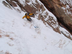 Rock Climbing Photo: Barnow charging on the 3rd Flatiron