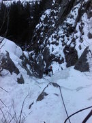 Rock Climbing Photo: Topping out on the 1st pitch.
