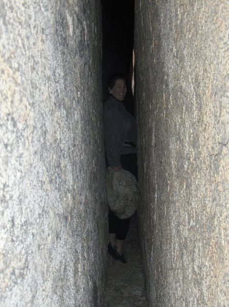 Rock Climbing Photo: this chockstone reminded us of the movie 127 Hours