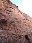 Rock Climbing Photo: left of the rappel line