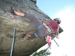Rock Climbing Photo: placing my last piece a bd .75 or green dragon cam...