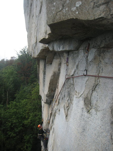 Rock Climbing Photo: second pitch we chose the roofs variation it was f...