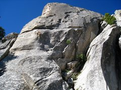 Rock Climbing Photo: East side of Competition Rock. The left skyline is...