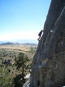 Rock Climbing Photo: High up above the valley on Mantle Dynamics. Septe...
