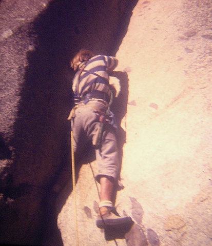 Lou Dawson starting up Stone Groove, fall 1973