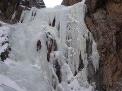 Rock Climbing Photo: Upper pitch, late January 2010.