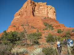 Rock Climbing Photo: view of approach. hike on the trail past the tower...