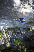 Rock Climbing Photo: CD aggravating Agro Shagg in the fall of 2010. Pho...
