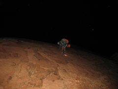 Rock Climbing Photo: our decent of Mescalito was in complete darkness w...