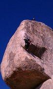 Rock Climbing Photo: My first climb.  The crux move on SW Corner