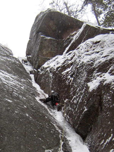 Rock Climbing Photo: Heading up the first pitch.
