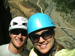 Rock Climbing Photo: Us at the top.