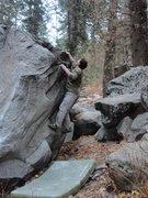Rock Climbing Photo: Kris' Problem V2 Hidden Forest  November 7, 2009  ...