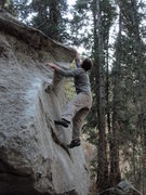 Rock Climbing Photo: Dale's Arete V4 Hidden Forest Little Cottonwood Ca...