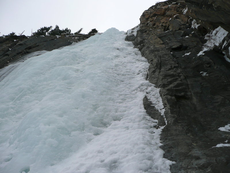 A look at final headwall during descent