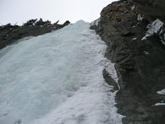 Rock Climbing Photo: A look at final headwall during descent