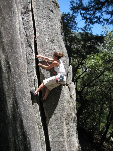 Rock Climbing Photo: Lieing back the start to Babble On.
