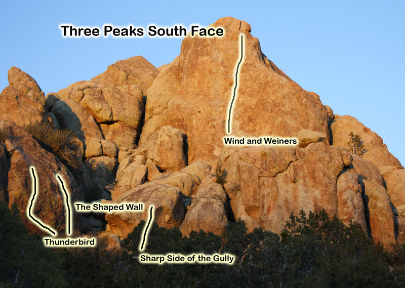 Topo for the south face