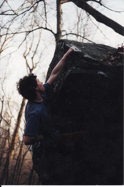 Rock Climbing Photo: The Wave original finish (move left to arete) V2. ...