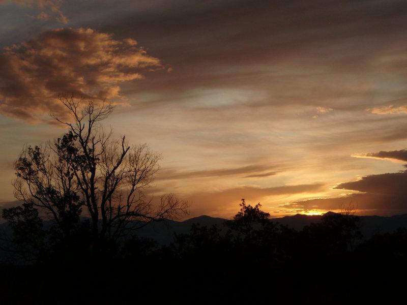 Sunset in Little Cottonwood
