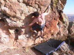 Rock Climbing Photo: Boulder Colorado, January 28th 2011, 67 degrees Fa...