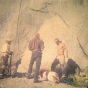 Rock Climbing Photo: FA Mescalito 1973, Charlie Porter, Hugh Burton & S...