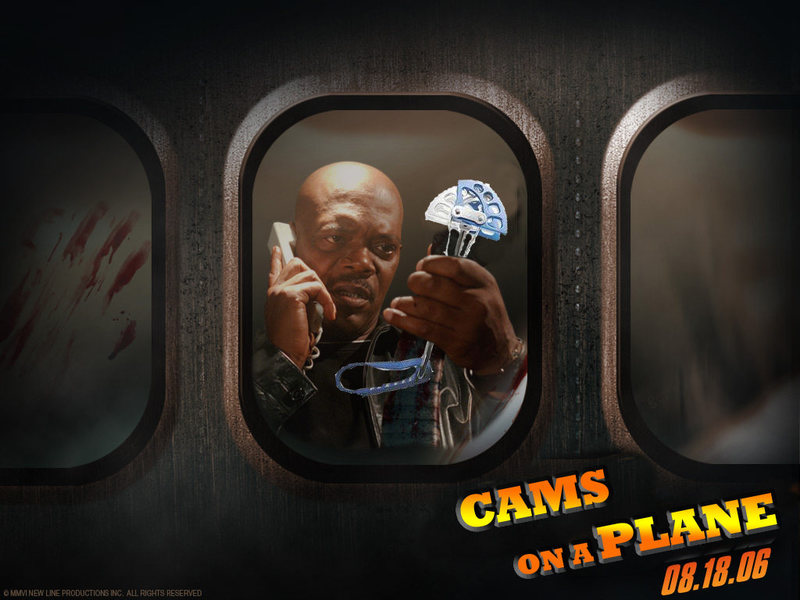 Get these MOTHA FU@KIN' CAMS OFF THIS MOTHA FU@KIN' PLANE!!!