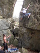 Rock Climbing Photo: Me starting PWB Arete   Favorite Climb at the hall...